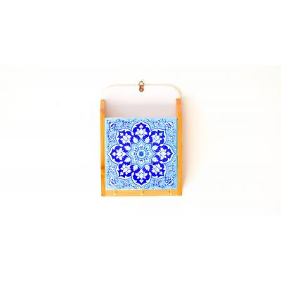 Key Holder Blue & white