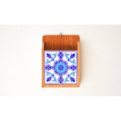 Ceramic Blue Key Holder