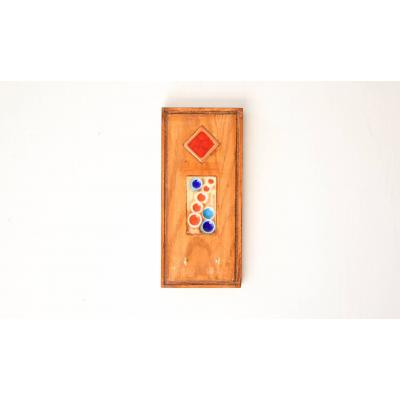 Wood & Tile Key Holder