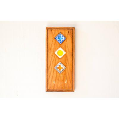 Ceramic & Wooden Key Holder