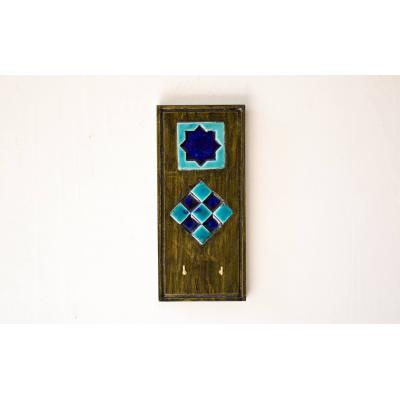 Blue Tile Key Holder