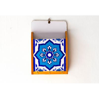 Blue & White Key Holder