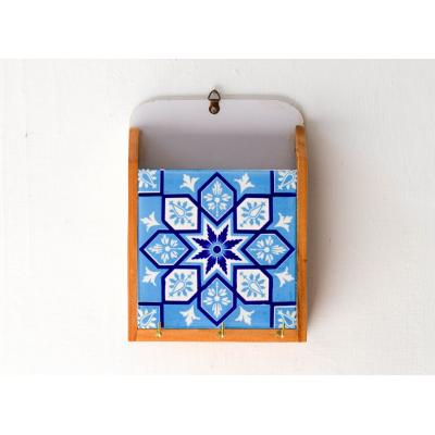 Key Holder Blue Pattern