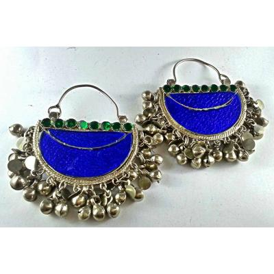 afghan antique blue chand ballis