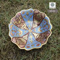 Elegant Hand Crafted Hand Painted Brass Serving Bowl
