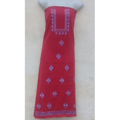 Red shirt phulkari embroidered
