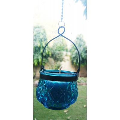 Blue Candle Hanging