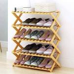 Portable fold-able multi purpose wooden rack