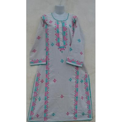 Embroidered stitched kurta