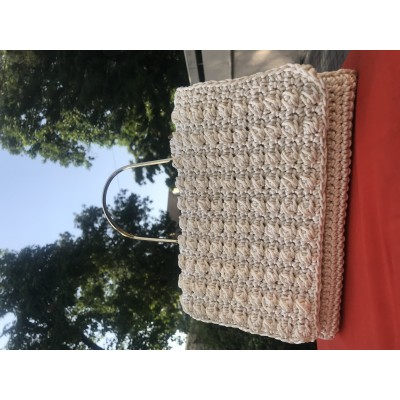Off white bobble party handbag