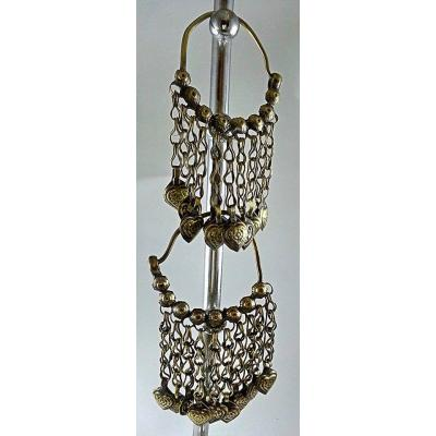 afghan antique chand ballis with long hangings