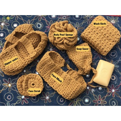Handwoven spa set