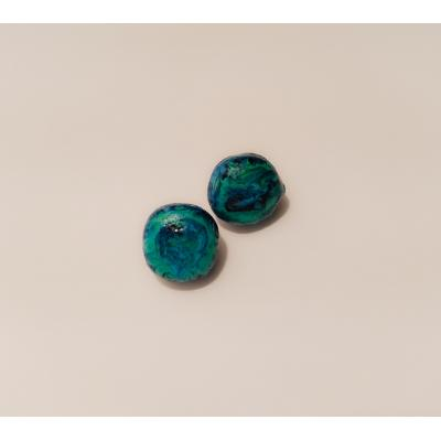 Peacocks ear studs