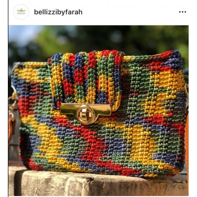 Rainbow crochet bag