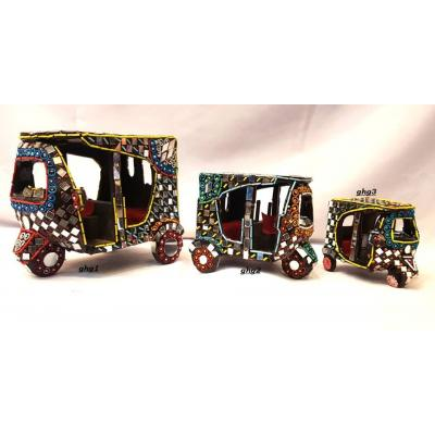 Beautiful Hand Made Glass Decorated Rickshaw