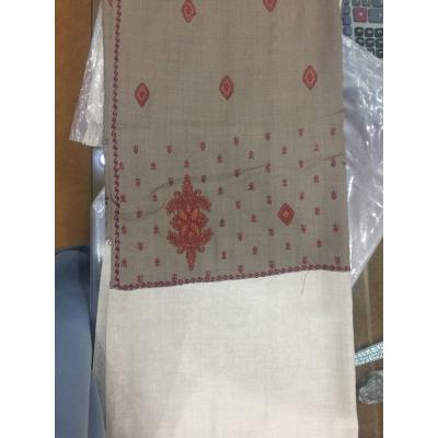 Computer Contrast Color Palla All Over Hand Embroidered Pashmina Shawl for Women