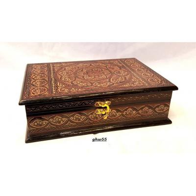 Brown Color Wooden Antique Handmade Jewelry Box