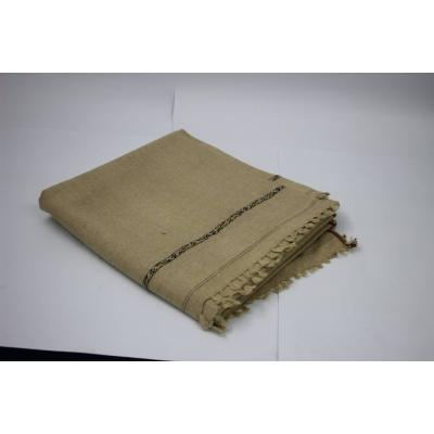Camel Color Plain Two Side Border Pashmina Shawl for Men