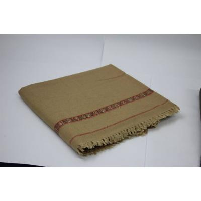 Almond Color Plain Two Side Border Pashmina Shawl for Men