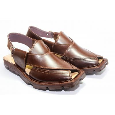 Leather Brown  Nourozi Chappal