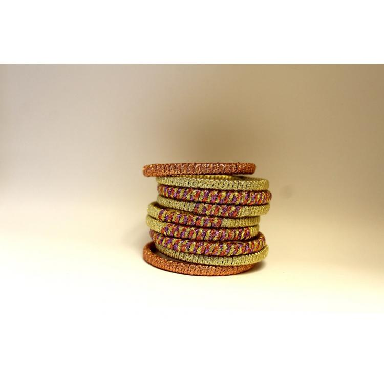 Bangles Gold & Red