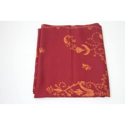 Burnt Orange Color with Hand Embroidery Pashmina Shawl for Women