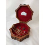 Handcarved Solid Wood Jewelry Box