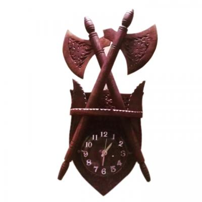 Axes Wooden Wall Clock