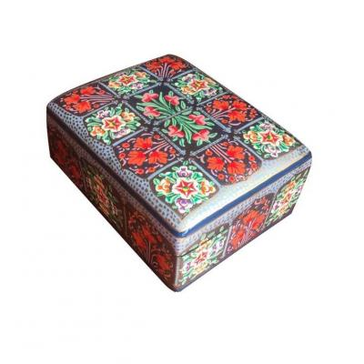 Beautiful Traditional Multi Color Paper Mache Jewelry Box for Her