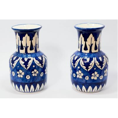 LV-56-b, blue pottery Vase