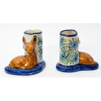 Blue Pottery Pen Holder