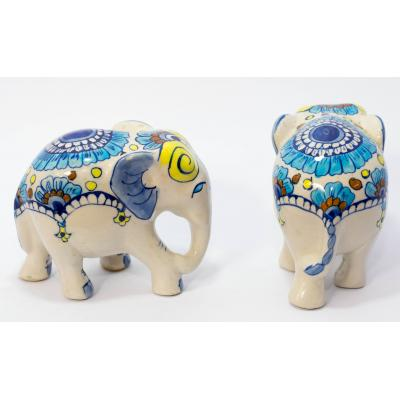Blue Pottery Decoration Elephant
