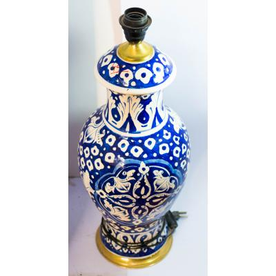 Blue Pottery X-LARGE Table Lamp with fitting Without Shade
