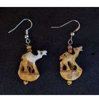 Camel Shape  Bone Earrings