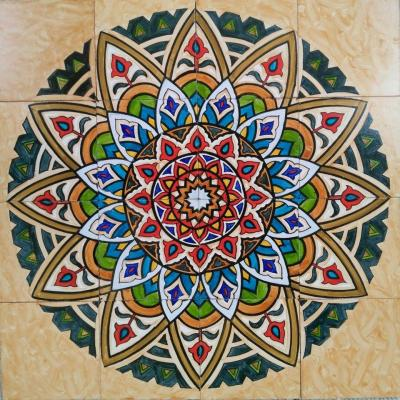 Beautiful Moroccan Mosaic Design Decorative Ceramic Hand Painted Panel Tile