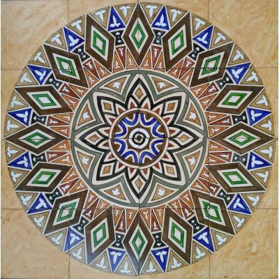 Beautiful Geometric Shape Mosaic Design Decorative Ceramic Hand Painted Panel Tile