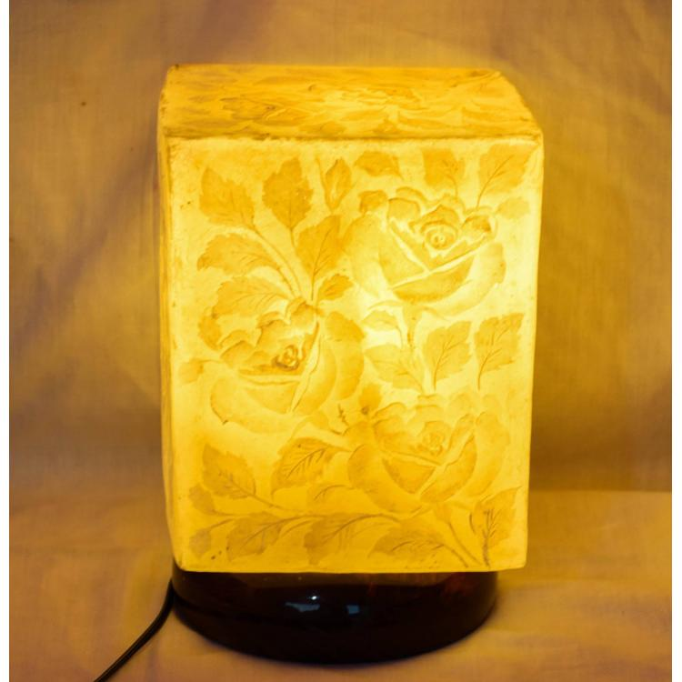 Camel skin Box  lamp