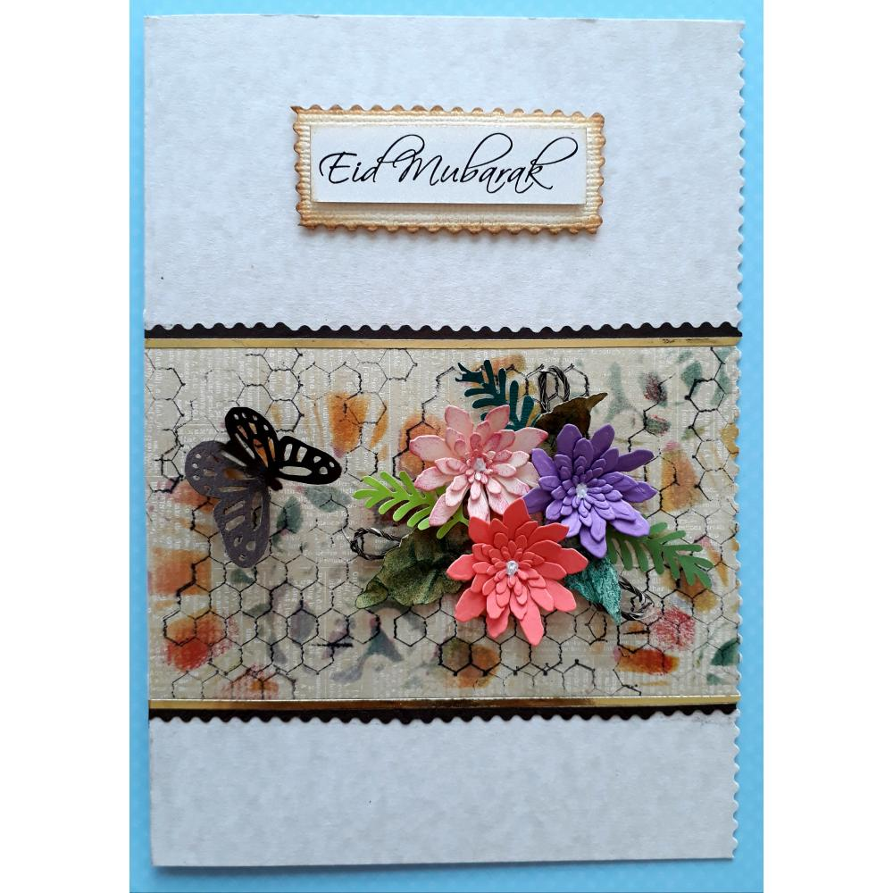 Beautiful Handmade Nice Design Eid Card