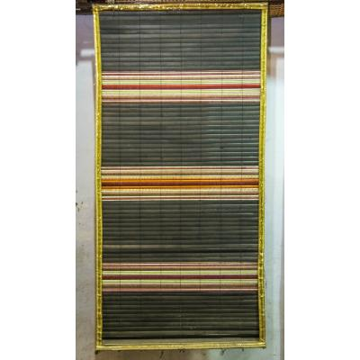 Hand-Weaved Wood Curtain Teen Pati