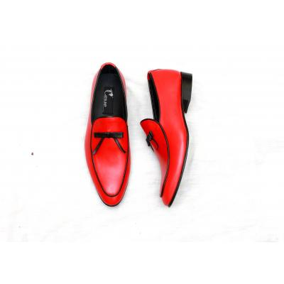 Handmad Men Shoe Red & Black