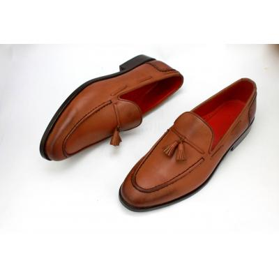 Brown Men Tessel Up Loafers