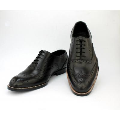 Black Full Brogue Men Shoe
