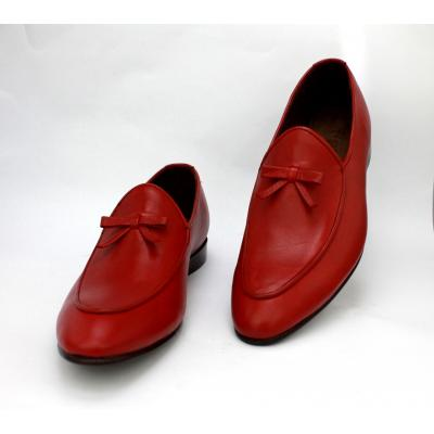 HANDMADE Men Loafer Red