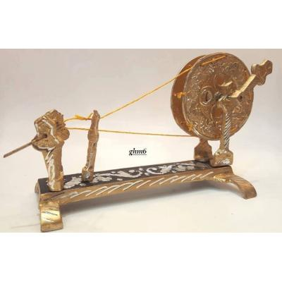 Charkha, spinning wheel made of silver