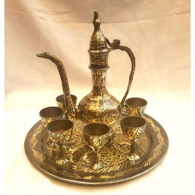 Brass handcrafted aftaba set