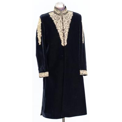 Men's Sherwani Velvet Black