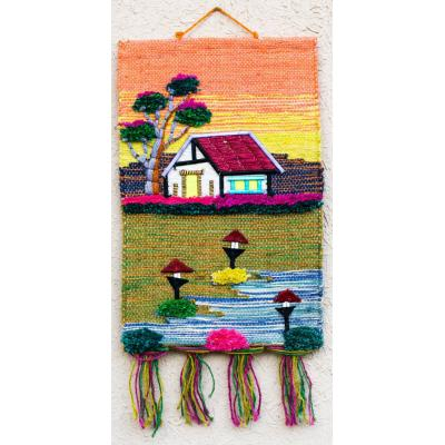 Multi Colors  Jute Art Wall Hanging