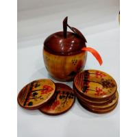 Apple shape tea mate set, hand painted