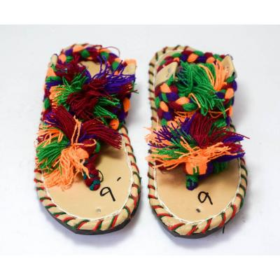 Balochi Multi Colors Thread Chappal