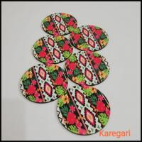 Flower Printed Coaster Set of 4